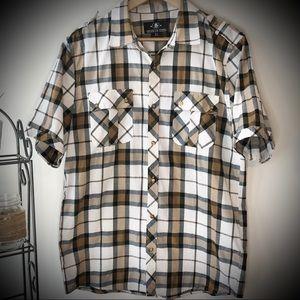 Brooklyn State Short Sleeve Button Down Shirt